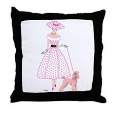 Bridgette and Peaches Throw Pillow