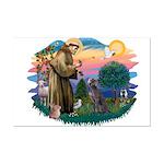 St Francis #2/ Weimaraner #1 Mini Poster Print