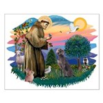 St Francis #2/ Weimaraner #1 Small Poster