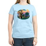 St Francis #2/ Weimaraner #1 Women's Light T-Shirt