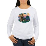 St Francis #2/ Weimaraner #1 Women's Long Sleeve T
