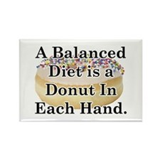 Balanced Donut Rectangle Magnet (10 pack)