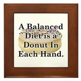 Balanced Donut Framed Tile