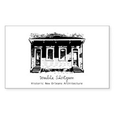 New Orleans Double Shotgun Rectangle Decal