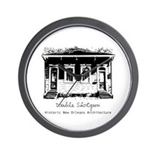 New Orleans Double Shotgun Wall Clock