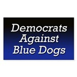 Democrats Against Blue Dogs bumper sticker