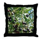 California Botanicals Olive Tree Art Throw Pillows