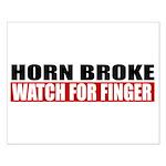 Horn Broke Small Poster