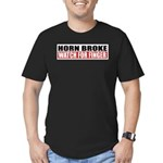 Horn Broke Men's Fitted T-Shirt (dark)