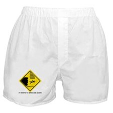 Gravity Yield Sign Boxer Shorts