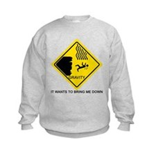 Gravity Yield Sign Sweatshirt