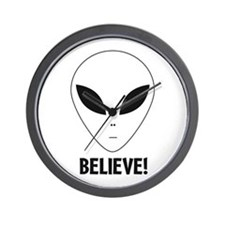 Believe! Alien Wall Clock