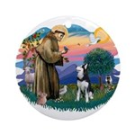 St Francis #2/ Siberian H #1 Ornament (Round)