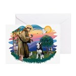 St Francis #2/ Siberian H #1 Greeting Cards (Pk of