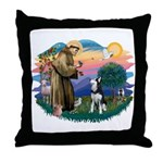 St Francis #2/ Siberian H #1 Throw Pillow