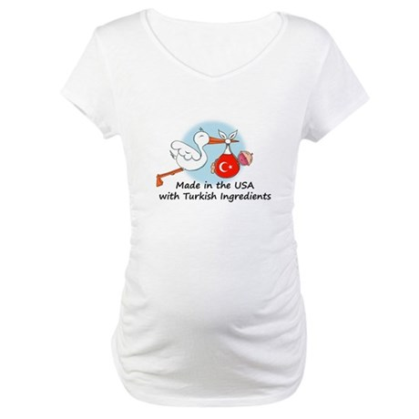 Stork Baby Turkey USA Maternity T-Shirt