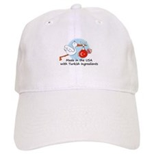 Stork Baby Turkey USA Baseball Cap