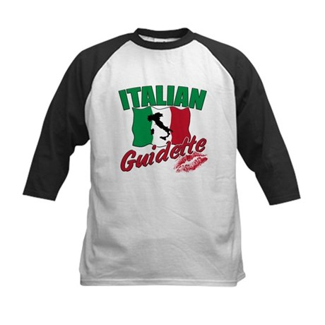 italian pride Kids Baseball Jersey