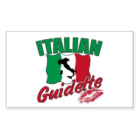 italian pride Rectangle Sticker
