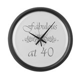 Fabulous At 40 Years Old Large Wall Clock