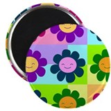 Mod Smiling Flowers Magnet