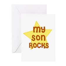 MY SON ROCKS Greeting Cards (Pk of 10)