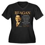 Ronald Reagan Women's Plus Size V-Neck Dark T-Shir