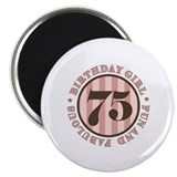 "Fun & Fabulous 75th Birthday 2.25"" Magnet (10 pack"