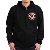 Fun & Fabulous 80th Birthday Zip Hoodie