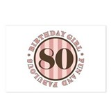 Fun & Fabulous 80th Birthday Postcards (Package of