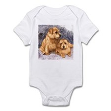 Norfolk Terrier Pair Infant Bodysuit