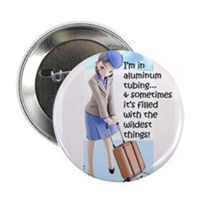 "Flight Attendant 2.25"" Button"