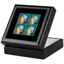 Keepsake Box featuring English Bulldog