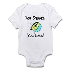 You Snooze You Lose Infant Bodysuit