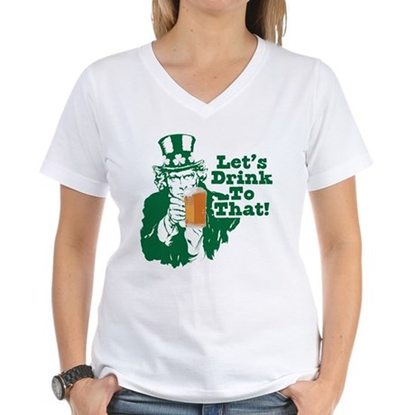 Let's Drink To That Women's V-Neck T-Shirt