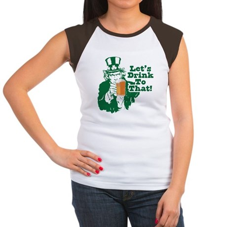 Let's Drink To That Women's Cap Sleeve T-Shirt