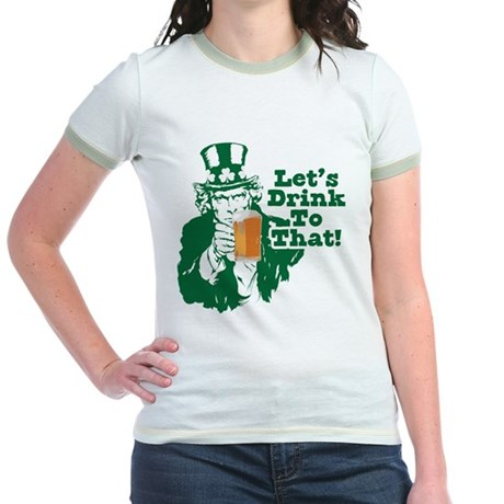 Let's Drink To That Jr. Ringer T-Shirt