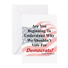 Are You Wising Up To Dems? Greeting Cards (Pk of 1