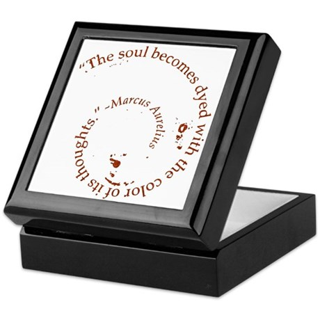 The soul becomes dyed with Keepsake Box
