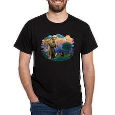St Francis #2/ Schipperke #4 T-Shirt