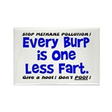 EVERY BURP IS 1 LESS FART Rectangle Magnet