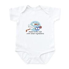 Stork Baby Israel USA Infant Bodysuit