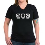 Peace Love Dogs [b/w] Shirt