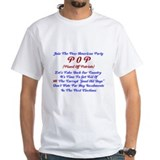 Pissed off patroit t-shirt white
