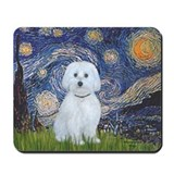 Starry / Maltese (B) Mousepad