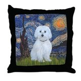 Starry / Maltese (B) Throw Pillow