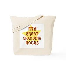 MY GREAT GRANDMA ROCKS Tote Bag