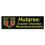 Hutaree Bumper Sticker with Badge