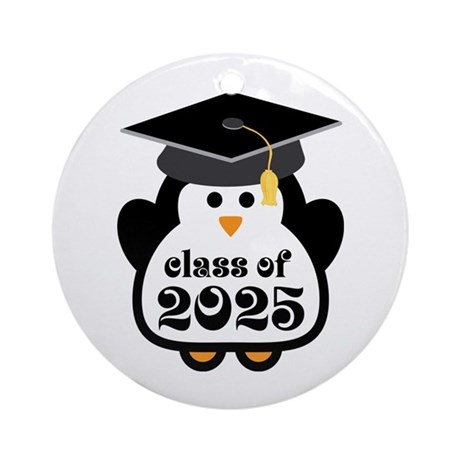 Penguin Class of 2025 Ornament (Round)