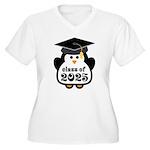 Penguin Class of 2025 Women's Plus Size V-Neck T-S